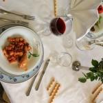 Ristorante-Hotel-San-Crispino-Macerata-Gnocchi all'anatra con pollo...e-il-solito-squisito-vino-rosso