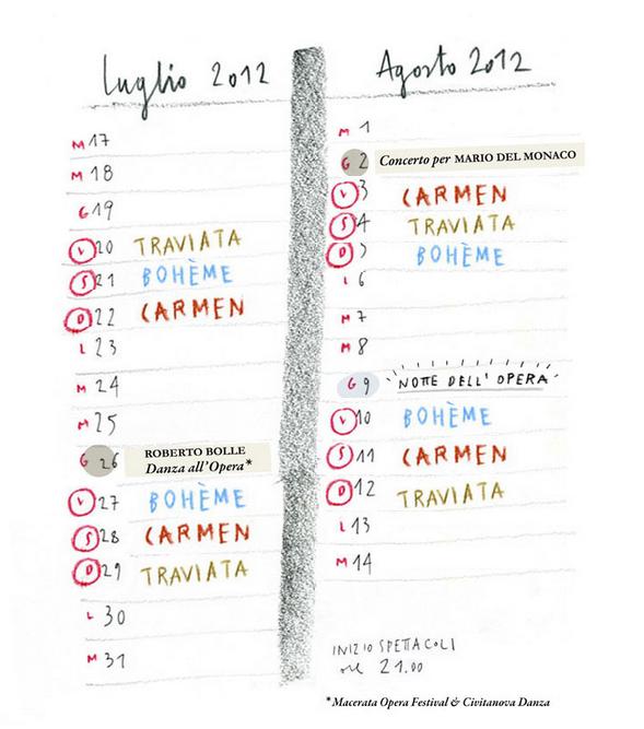 Programma Sferisterio di Macerata estate 2012